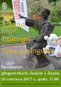 VIII imieniny Jana z Głogowa plakat. pub